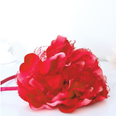 Peony hairband in rose red