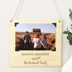 Personalised Landscape Photo Bamboo Wall Hanging