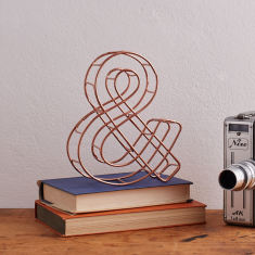 Wire copper ampersand