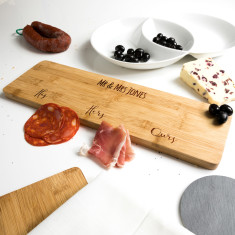 Personalised His Hers Ours Serving Board Wedding Gift