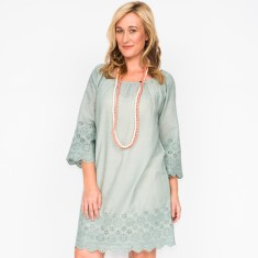 Hilary plain grey dress