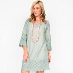 Hilary plain grey dress