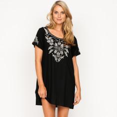 Ellie plain black dress