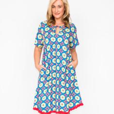Natalie circle blue dress