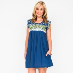 Mia embroidered dress (various colours)