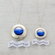 Personalised Blue Mountains Locket
