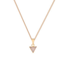 Mini Triangle Natural Drusy Pendant Necklace