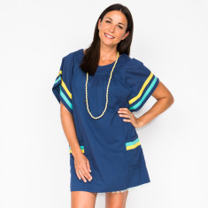 Ady Navy dress with slip