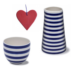 Anne Black jug, cup and heart set