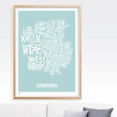 Toowoomba type print