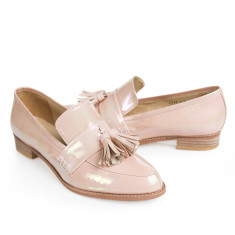 Ecstasy II tassel loafers in rainbow-metallic pink