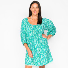 Opal filigree mint dress