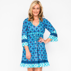 Tyra fleur blue dress