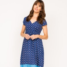 Madison cross navy dress