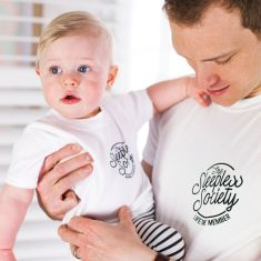 Daddy and Me 'Sleepless Society' T-Shirt Set