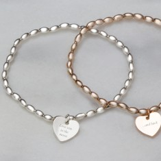 Love you to the moon and back engraved bracelet