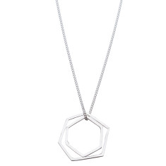 Geometric sterling silver necklace (various designs)