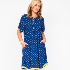 Natalie cross navy dress