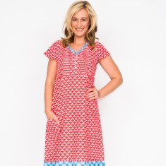 Anna leaf pink dress