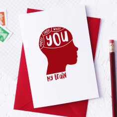 Phrenology Valentine's Day card