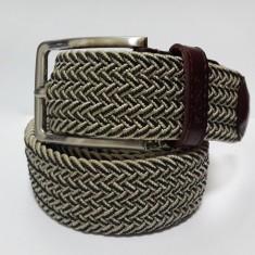 Woven elastic khaki men's belt