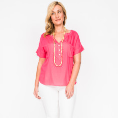 Avery plain pink top