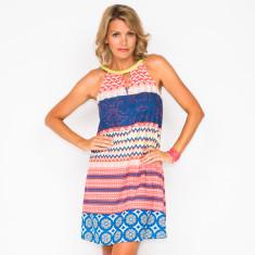 Emily panel print dress