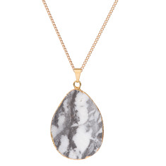 Jasper Statement Black & White Pendant Necklace