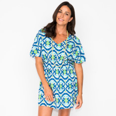 Rosa ikat navy dress