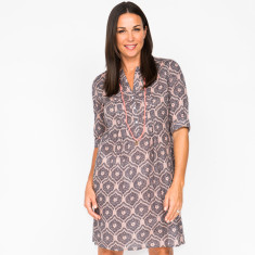 Clarissa filigree grey dress