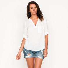 Aria plain white top