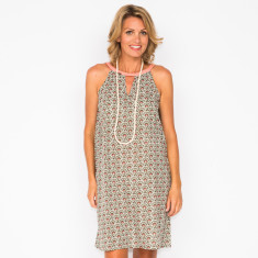 Emily shell khaki dress