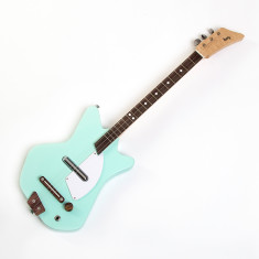 Kids' Wooden Electric Guitar In Light Mint Green