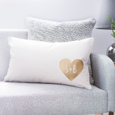 Personalise Couples Heart Cushion