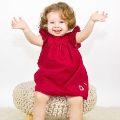 Christmas dress with nappy cover