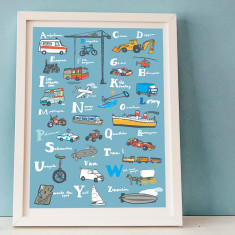 Transport Abc poster for kids