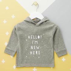 Hello, I'm New Here Baby Hoodie