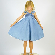 Girls' chambray dress
