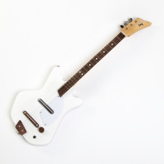 Kids' Wooden Electric Guitar In White Lightning