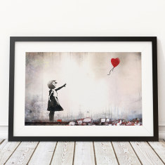 Girl With A Red Balloon by Banksy art print