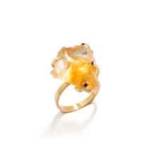 Glacier Gemstone Citrine Ring