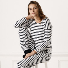 Avalon Striped 3/4 Loungewear Top