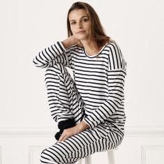 Avalon Striped 3/4 Loungewear Top