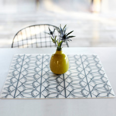 Modern Twist placemat in sea