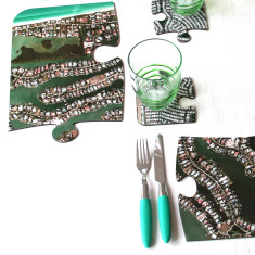 Satellite photo jigsaw placemats (set of four)
