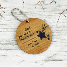 Shining Star Personalised Keyring