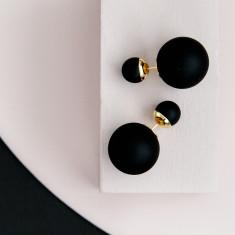 Bubble Earrings Black