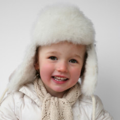 Alpaca Fur Baby Or Child's Trapper Hat