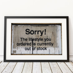 Lifestyle Out Of Stock by Banksy Art Print