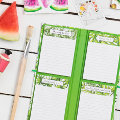 Tropical Pocket Planner with Peel & Stick notebooks